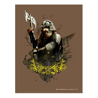 Gimli With Ax Vector Collage Post Card