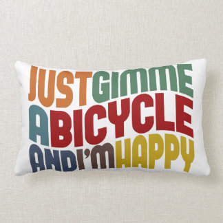 Gimme A Bicycle Lumbar Pillow