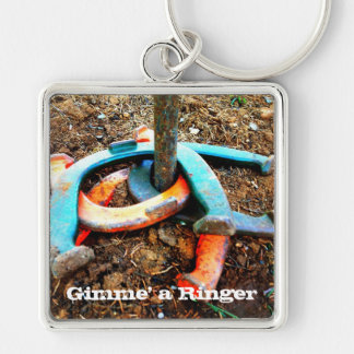 Gimme' a Ringer Horseshoe Pitching Gifts Key Chains