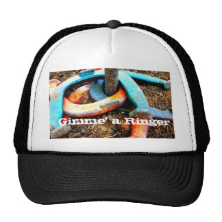 Gimme' a Ringer Horseshoe Pitching Gifts Trucker Hat