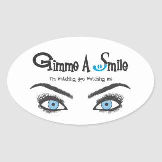 Gimme A Smile Oval Sticker
