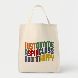 Gimme A Spin Class Grocery Tote Bag