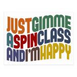 Gimme A Spin Class Postcard