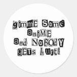 Gimme algo de animado… pegatina redonda