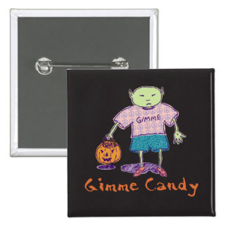 Gimme Candy Ghoulie Square Button