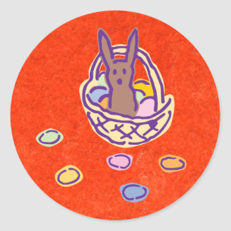 Gimme Chocolate Bunny Basket Stickers