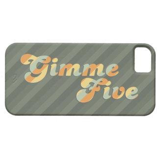 Gimme cinco rayados retros iPhone 5 funda