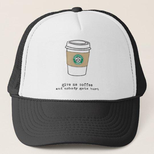 gimme coffee trucker hat