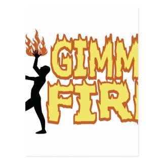 Gimme Fire Postcard