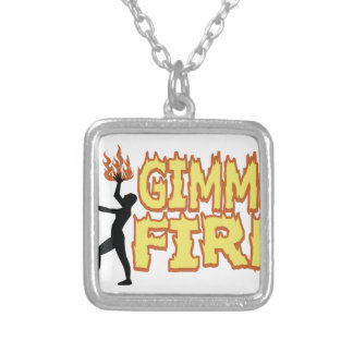 Gimme Fire Silver Plated Necklace