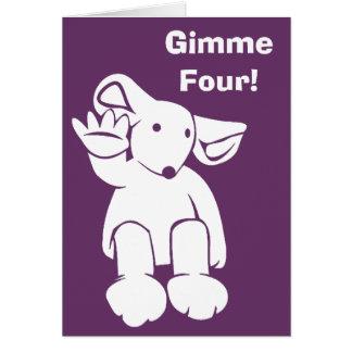 Gimme Four card