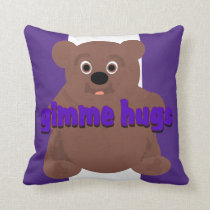 Gimme Hugs Throw Pillow