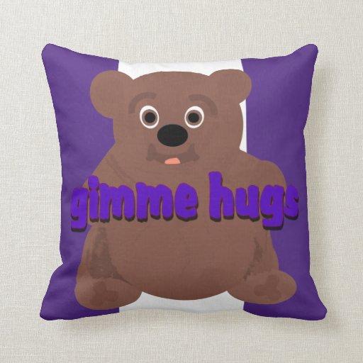 Gimme Hugs Throw Pillow