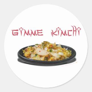 Gimme Kimchi Kimchi Lovers Round Stickers