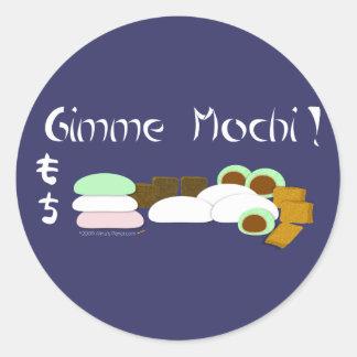 Gimme Mochi Sticky Rice Cake Classic Round Sticker