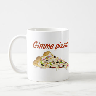 Gimme Pizza Pizza Lovers Classic White Coffee Mug