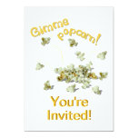 "Gimme Popcorn Party Invitation Card Template 5"" X 7"" Invitation Card"