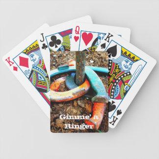 Gimme regalos de herradura de un cabeceo del campa baraja cartas de poker