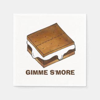 Gimme Smore Camp Picnic Campfire S'mores Napkins