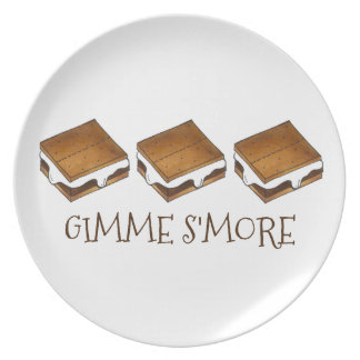 Gimme Smore Campfire S'mores Dinner Plates