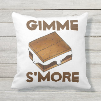 Gimme S'more Campfire Smores Foodie Pillow