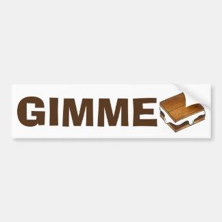 Gimme Smore Campfire S'mores Smores Bumper Sticker
