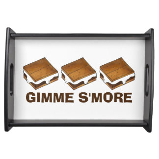 Gimme Smore Chocolate Marshmallow Camp S'mores Serving Tray