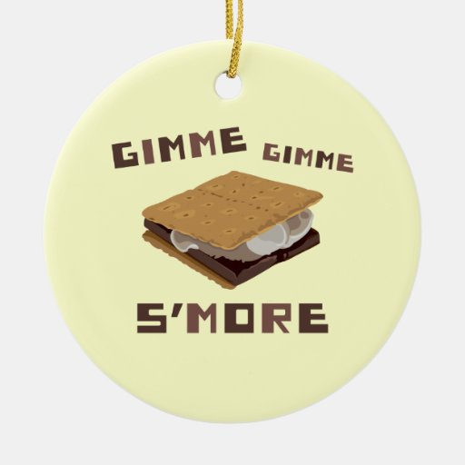 Gimme S'more Double-Sided Ceramic Round Christmas Ornament | Zazzle