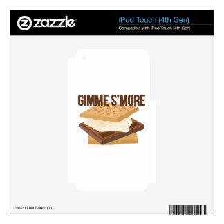 Gimme Smore iPod Touch 4G Calcomanía