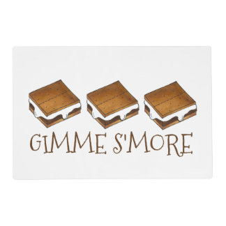 GIMME S'MORE Marshmallow S'mores Placemat