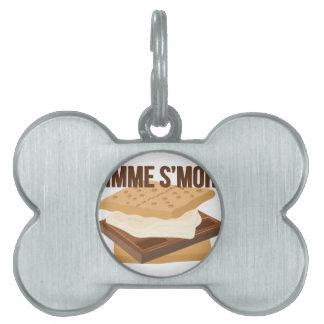 Gimme Smore Placas De Mascota