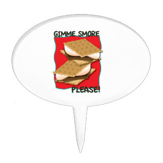 Gimme Smore Please! Cake Toppers