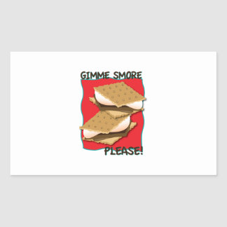 Gimme Smore Please! Rectangle Stickers