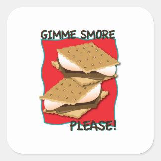 Gimme Smore Please! Square Stickers