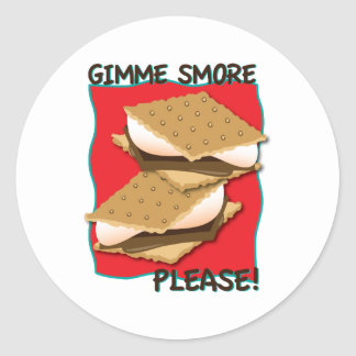 Gimme Smore Please! Round Stickers