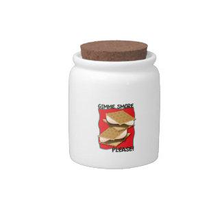 ¡Gimme Smore por favor Platos Para Caramelos