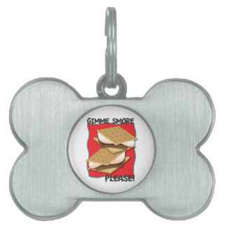 ¡Gimme Smore por favor Placa De Mascota