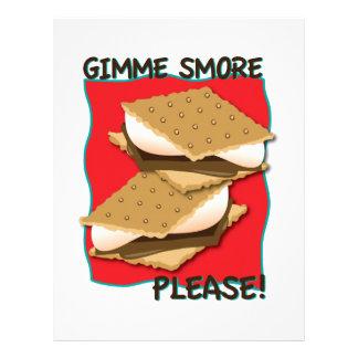 ¡Gimme Smore por favor Membrete Personalizado