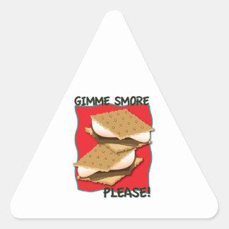 ¡Gimme Smore por favor Calcomania Triangulo