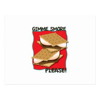 ¡Gimme Smore por favor Tarjetas Postales
