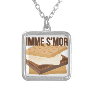 Gimme Smore Silver Plated Necklace