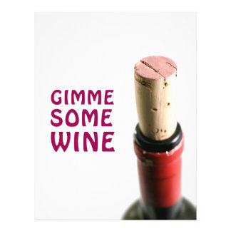 Gimme some wine flyer