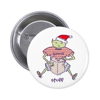 Gimme Stuff Ghoulie Santa Button