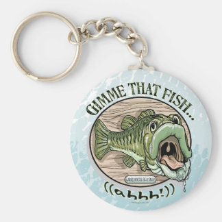 Gimme That Fish, Ahhh Gift Ideas Basic Round Button Keychain
