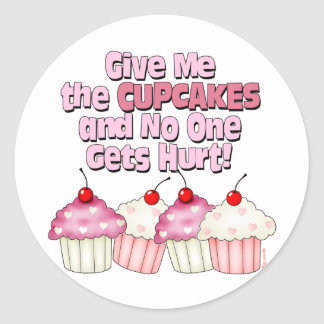 Gimme the Cupcakes Round Stickers