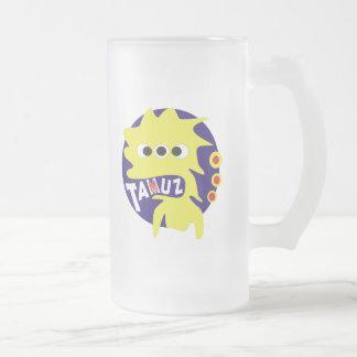 Gimmel Tammuz Frosted Glass Beer Mug
