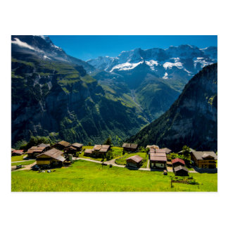 Gimmelwald In Swiss Alps - Switzerland Postcard