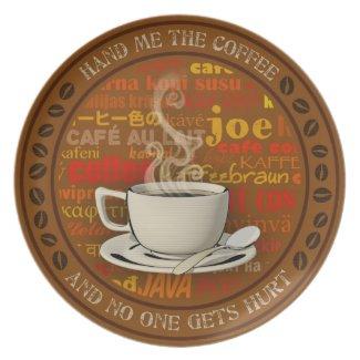 Gimmie Coffee Plate