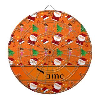 Gimnasia anaranjada conocida de encargo santas del tablero dardos