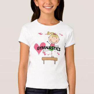 GIMNASIA - camisetas rubias del haz de balanza del